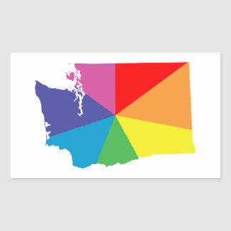washington color burst rectangular sticker