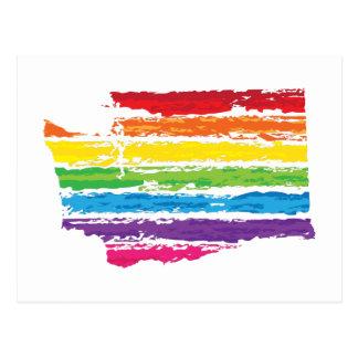 washington color strokes postcard
