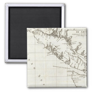 Washington Columbia Británica mapa de Vancouver Iman Para Frigorífico