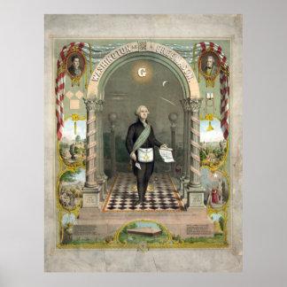 Washington como poster impresión de Freemason
