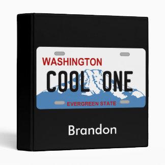 Washington Cool One license plate binder