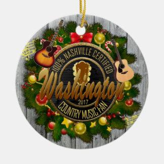Washington Country Music Fan Christmas Ornament