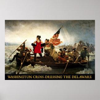 Washington Cross-Dressing Delaware Poster