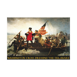Washington Cross-Dressing the Delaware Canvas Print