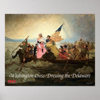 Washington Cross-Dressing the Delaware Poster