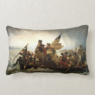 Washington Crosses The Delaware River Lumbar Pillow