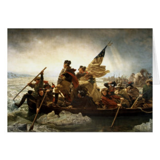 Washington Crossing the Delaware - 1851 Card