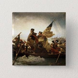 Washington Crossing the Delaware - 1851 Pinback Button