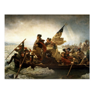 Washington Crossing the Delaware - 1851 Postcard