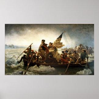 Washington Crossing the Delaware - 1851 Poster