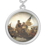 Washington Crossing the Delaware - 1851 Round Pendant Necklace