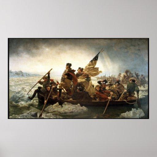Washington Crossing The Delaware -- Border Poster