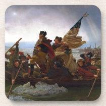 Washington Crossing the Delaware by Emanuel Leutze Beverage Coaster