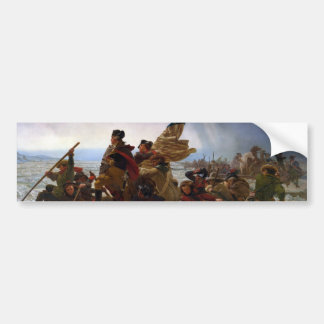 Washington Crossing the Delaware by Emanuel Leutze Bumper Sticker