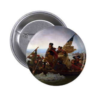 Washington Crossing the Delaware by Emanuel Leutze Pinback Button