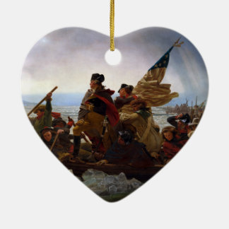 Washington Crossing the Delaware by Emanuel Leutze Ceramic Ornament