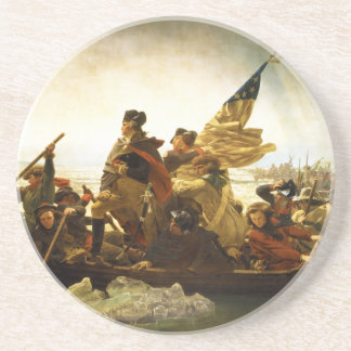 Washington Crossing the Delaware by Emanuel Leutze Drink Coaster