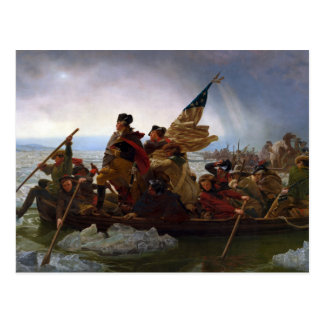 Washington Crossing the Delaware by Emanuel Leutze Postcard