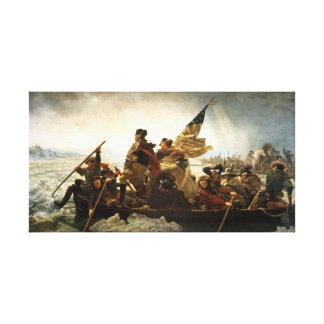 Washington Crossing the Delaware Stretched Canvas Prints
