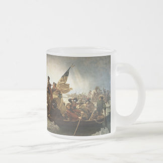 Washington Crossing The Delaware Frosted Glass Coffee Mug