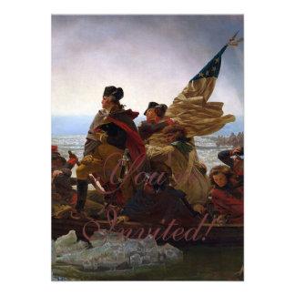 Washington Crossing the Delaware Personalized Invite