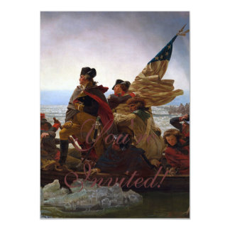 Washington Crossing the Delaware 4.5x6.25 Paper Invitation Card