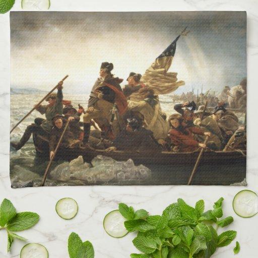 Washington Crossing the Delaware - Leutze (1851) Hand Towel