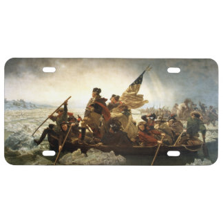 Washington Crossing the Delaware License Plate