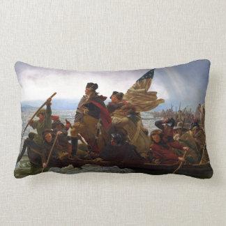 Washington Crossing the Delaware Lumbar Pillow