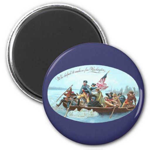 Washington Crossing the Delaware 2 Inch Round Magnet
