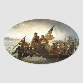 Washington Crossing the Delaware Oval Sticker