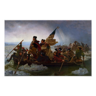 Washington Crossing the Delaware Painting Poster