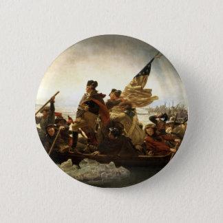 Washington Crossing the Delaware Pinback Button