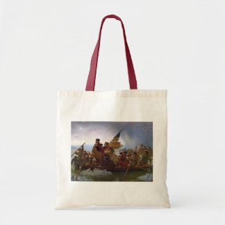 Washington Crossing the Delaware River Canvas Bags