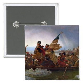 Washington Crossing the Delaware River Pinback Button