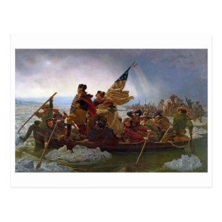Washington Crossing the Delaware River Postcard