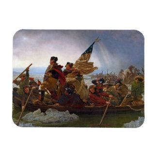 Washington Crossing the Delaware River Rectangle Magnet