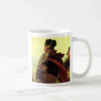 "Washington_Crossing_the_Delaware, ""The time is ... Classic White Coffee Mug"