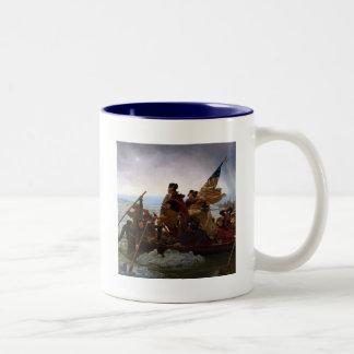 Washington Crossing the Delaware Two-Tone Coffee Mug