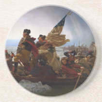 Washington Crossing the Delaware - US Vintage Art Drink Coaster