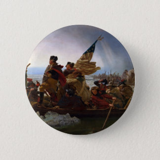Washington Crossing the Delaware - Vintage US Art Button