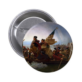 Washington Crossing the Delaware - Vintage US Art Button