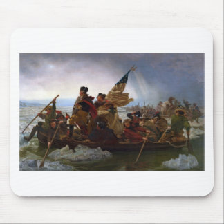 Washington Crossing the Delaware - Vintage US Art Mouse Pad