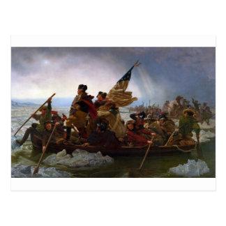 Washington Crossing the Delaware - Vintage US Art Postcard