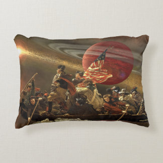 Washington Crossing the Universe Accent Pillow