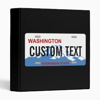 Washington custom license plate binder