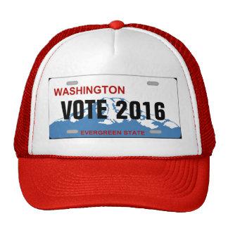 Washington custom license plate hat
