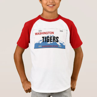 Washington Custom license plate shirt