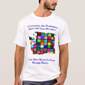 Washington Customizable Colorful Election T-Shirt