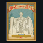 "Washington, D.C. - Abe Lincoln Postcard<br><div class=""desc"">Anderson Design Group is an award-winning illustration and design firm in Nashville,  Tennessee. Founder Joel Anderson directs a team of talented artists to create original poster art that looks like classic vintage advertising prints from the 1920s to the 1960s.</div>"